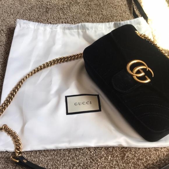 Gucci Handbags - Gucci Marmont mini velvet bag